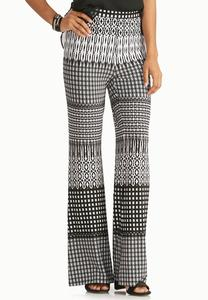 Mixed Striped Flare Pants