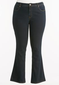 Shape Enhancing Bootcut Jeans-Plus EXT