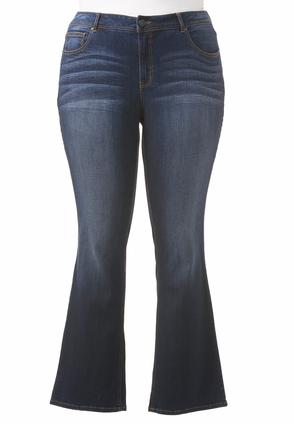 Classic Fit Bootcut Jeans- Plus