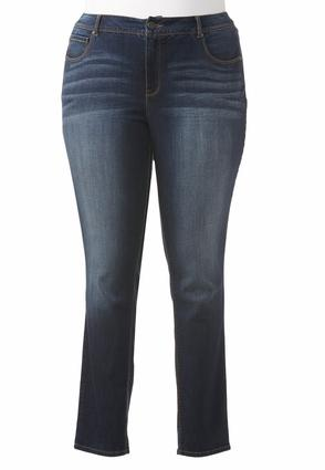 Shape Enhancing Skinny Jeans- Plus Ext