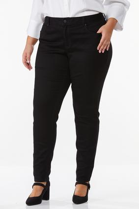 Plus Size Black Jeggings | Tuggl
