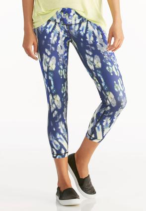 Graphic Print Performance Crop Leggings