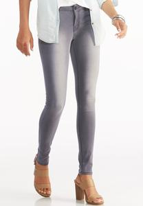Gray Wash Super Skinny Jeans