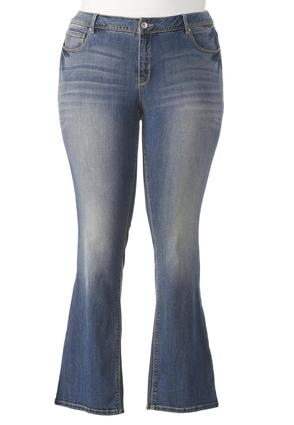 So Soft Stretch Bootcut Jeans- Plus Petite