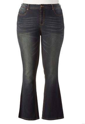 Shape Enhancing Bootcut Jeans- Plus Ext