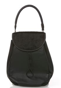 Faux Pony Hair Backpack