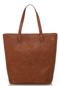 Geo-Tribal Embossed Tote