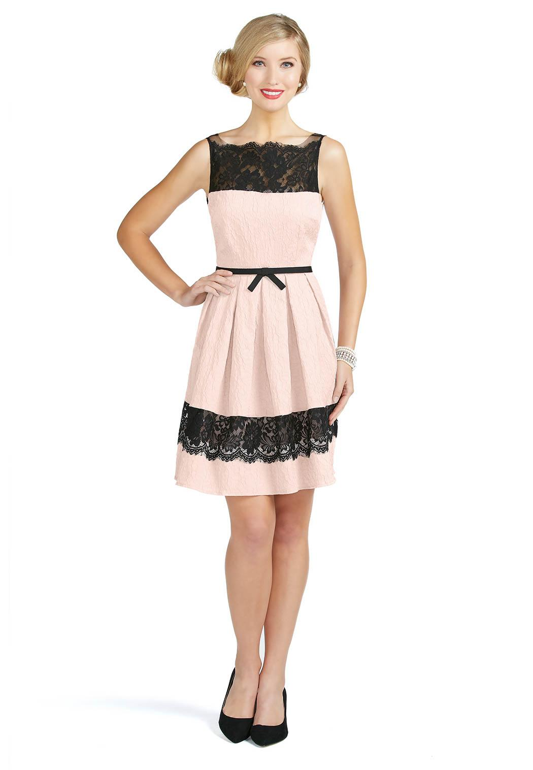 Home junior misses dresses banded lace panel dress style