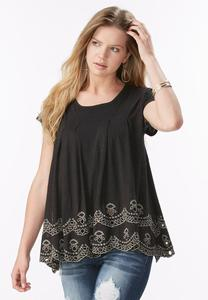 Embroidered Swing Top