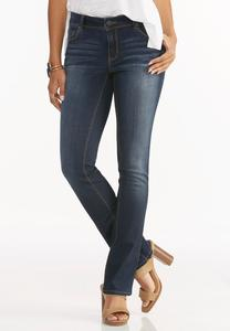 Contemporary Fit Bootcut Jeans-Petite