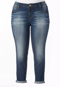 So Soft Stretch Skinny Ankle Jeans-Plus
