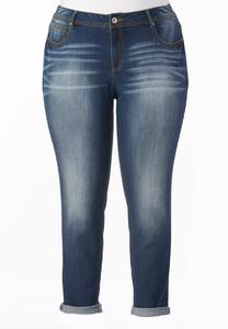 So Soft Stretch Skinny Ankle Jeans-Plus EXT