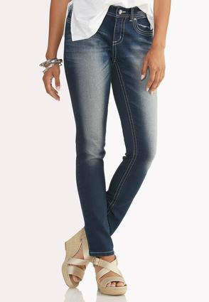 Heavy Stitched Skinny Jeans- Petite