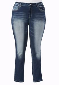 Heavy Stitched Skinny Jeans- Plus Ext