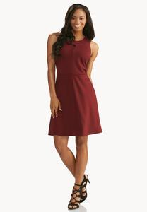 Seamed Space Dyed Fit And Flare Dress- Plus