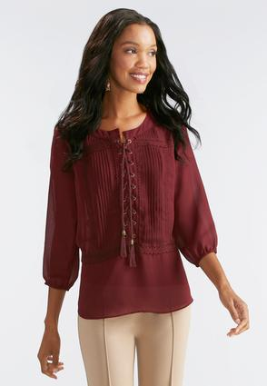 Victorian Lace Up Poet Top