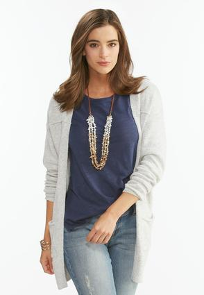 Boyfriend Cardigan- Plus