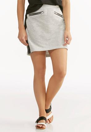 Faux Leather Side Athleisure Skirt- Plus