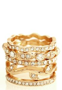 Pave Stacked Ring Set