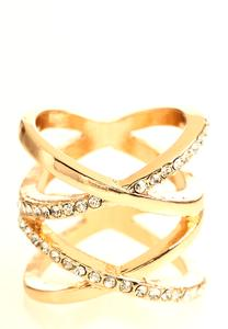 Criss Cross Pave Ring