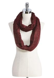Sequin Lurex Striped Infinity Scarf