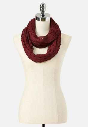 Open Work Infinity Scarf