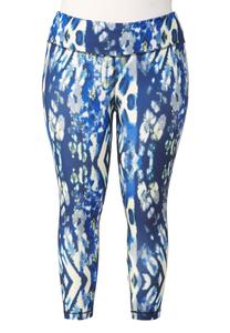Graphic Print Performance Crop Leggings- Plus