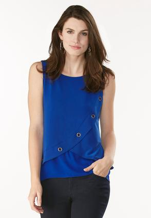 Layered Grommet Trim High- Low Tank