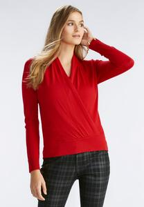 Faux Wrap Pullover Sweater