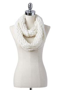 Chevron Pleat Infinity Scarf