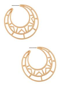 Geometric Cutout Hoop Earrings