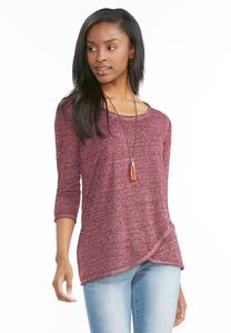 Burn Wash Tulip Hem Top-Plus