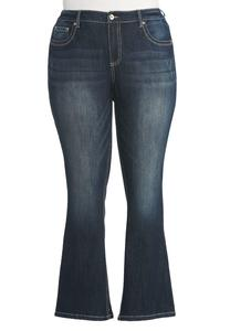 Classic Enhancing Bootcut Jeans-Plus