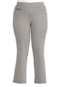 Houndstooth Bootcut Pants- Plus