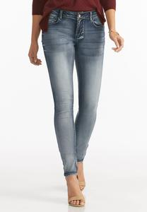 Uplifting Acid Wash Super Skinny Jeans