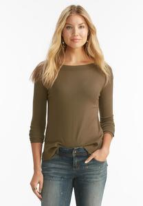 Ribbed Trim Zip Side Sweater