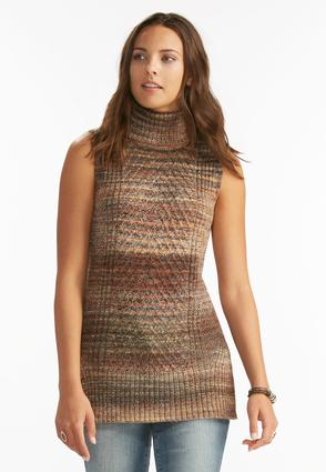 Space Dyed Turtle Neck Tabard Tunic- Plus
