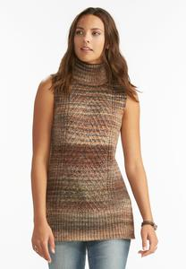 Space Dyed Turtle Neck Tabard Tunic-Plus
