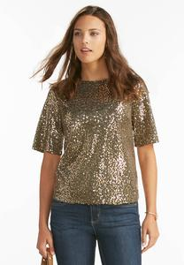 Sequin Skimmer Top-Plus