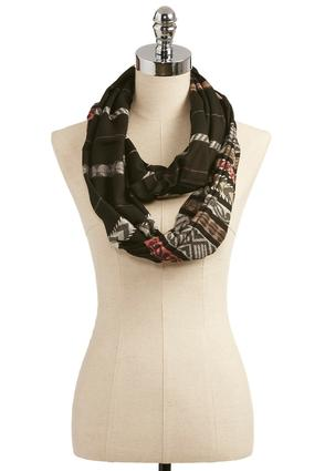 Exotic Striped Infinity Scarf