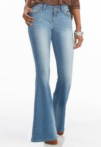 Braided Trim Flare Jeans