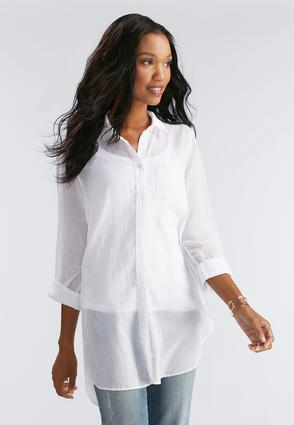 Side Slit Button Down Shirt