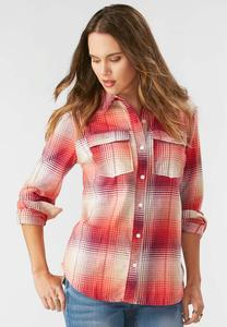 Dobby Plaid Button Down Shirt