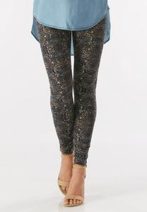 Scroll Print Leggings