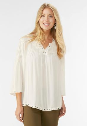 Grommet Trim Poet Top