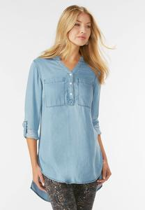 Chambray Henley Tunic