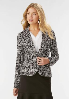 Abstract Rope Ponte Blazer- Plus