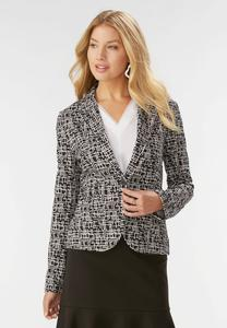 Abstract Rope Ponte Blazer-Plus