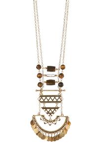 Layered Shaky Tribal Pendant Necklace