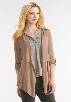 Mineral Wash Waterfall Cardigan